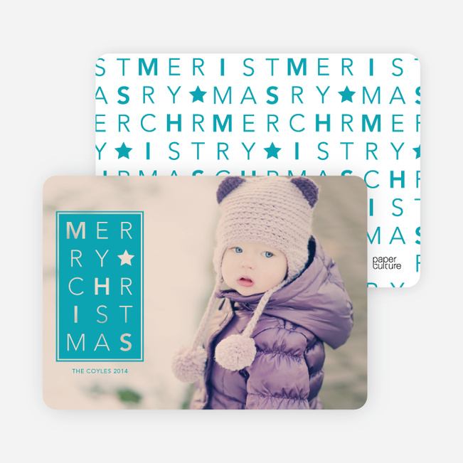 Chrstimas Cards: Merry Letters - Blue