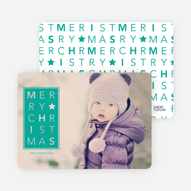 Chrstimas Cards: Merry Letters - Green