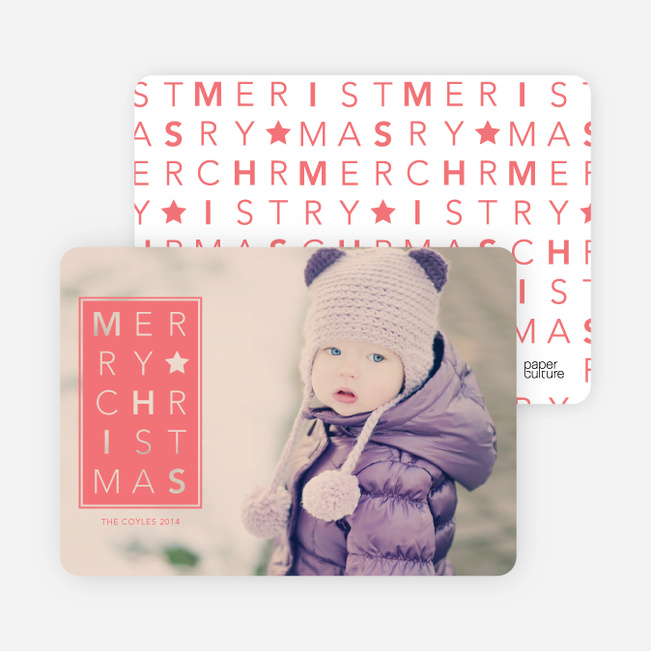 Chrstimas Cards: Merry Letters - Orange