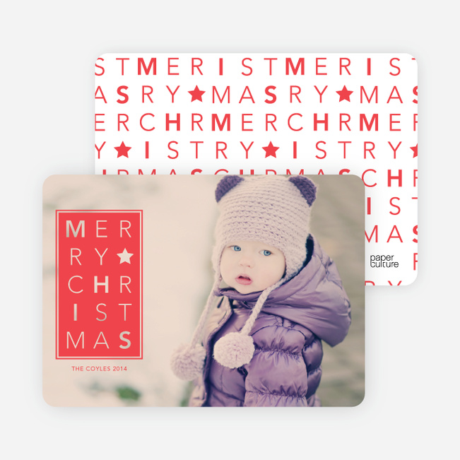 Chrstimas Cards: Merry Letters - Red