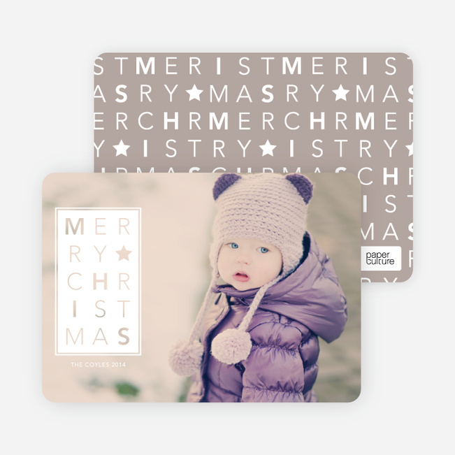 Chrstimas Cards: Merry Letters - White