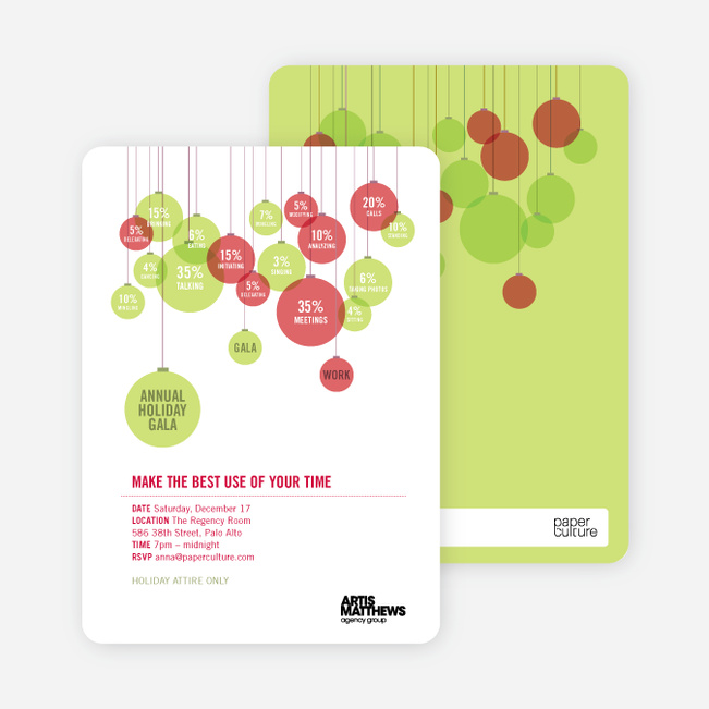 Corporate Holiday Party Invitations - Coral