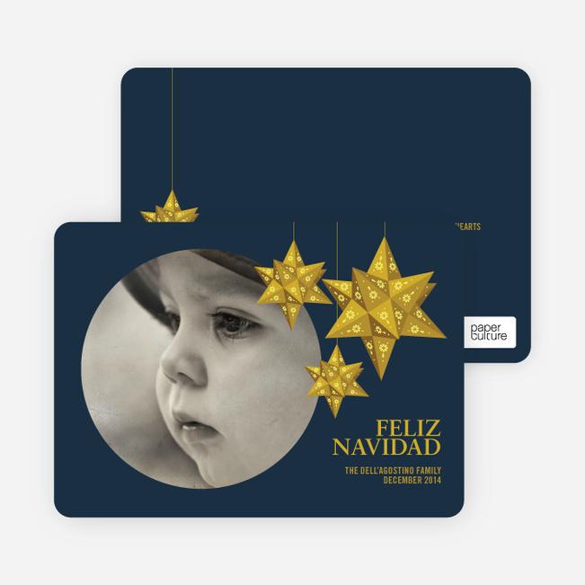 Feliz Navidad Photo Cards - Gold