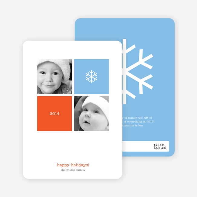 Four Square Holiday Photo Cards - Celestial Blue