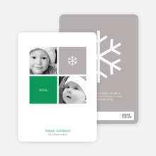 Four Square Holiday Photo Cards - Kelly Green