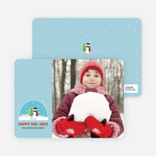 Snow Globe Holiday Card - Periwinkle Blue