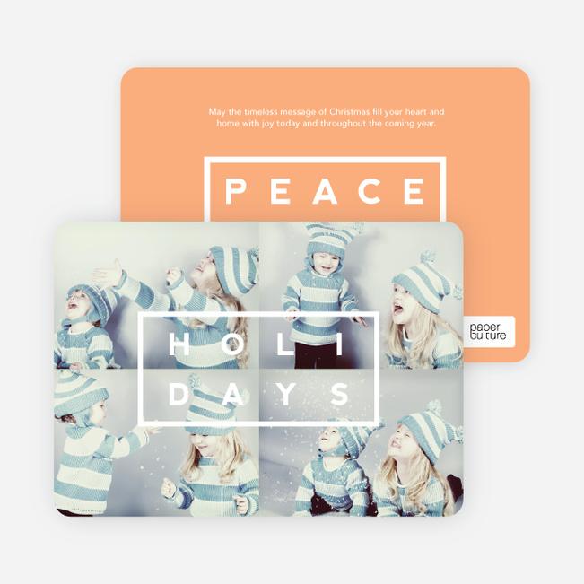 Holiday Block Photo Cards - Orange