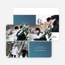 Fabric Circles Holiday Photo Cards - Cobalt Blue