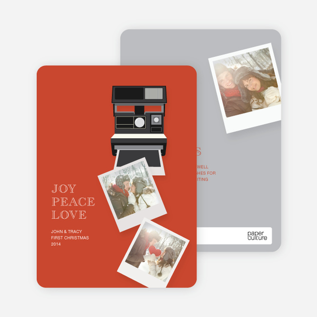 Holiday Cards: Instant Photo Memories - Red