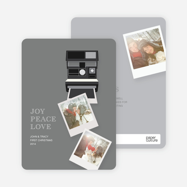 Holiday Cards: Instant Photo Memories - Gray