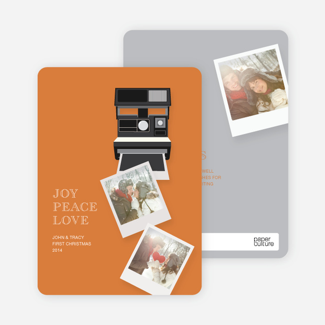 Holiday Cards: Instant Photo Memories - Orange