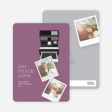 Instant Polaroid Holiday Memories - Purple
