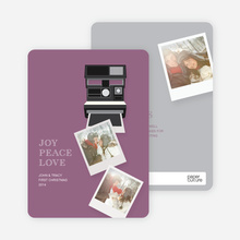 Instant Polaroid Holiday Memories - Purple