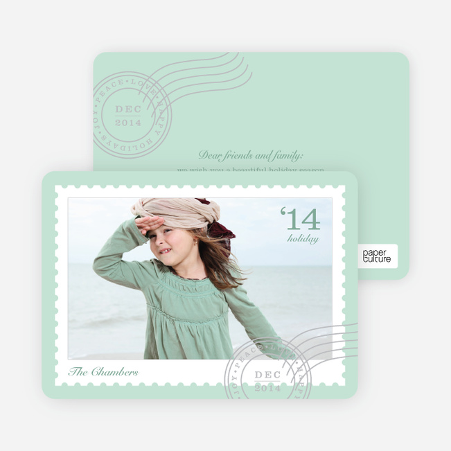 Holiday Cards: Stamps - Green