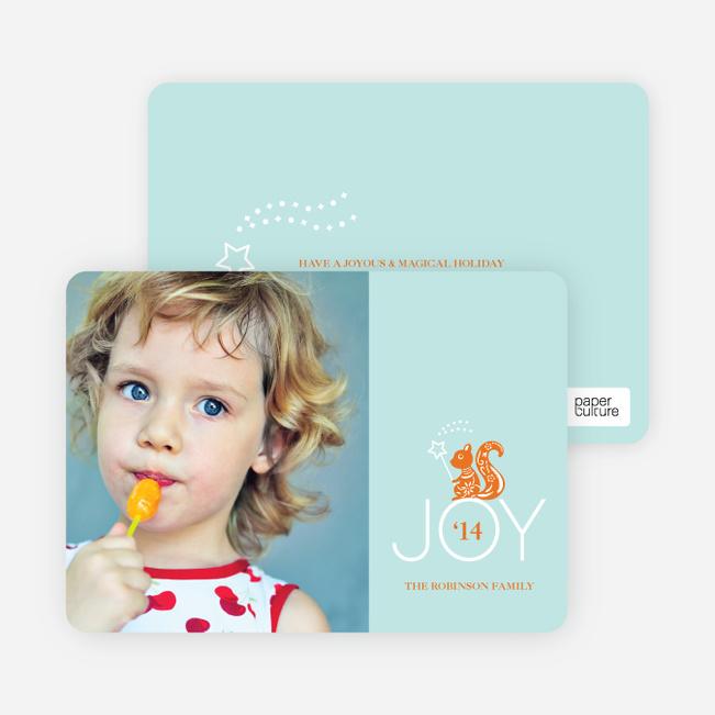 Magical Joy Holiday Photo Card - Pumpkin Orange