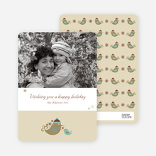 Holiday Photo Cards: Parent & Child - Khaki