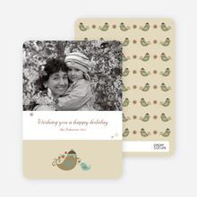 Parent and Child Holiday Photo Cards - Khaki
