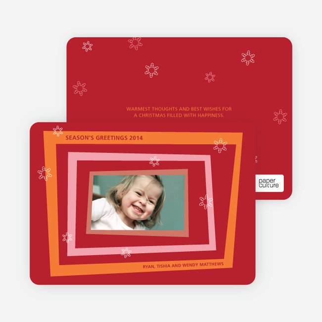 Retro Holiday Photo Cards - Carrot