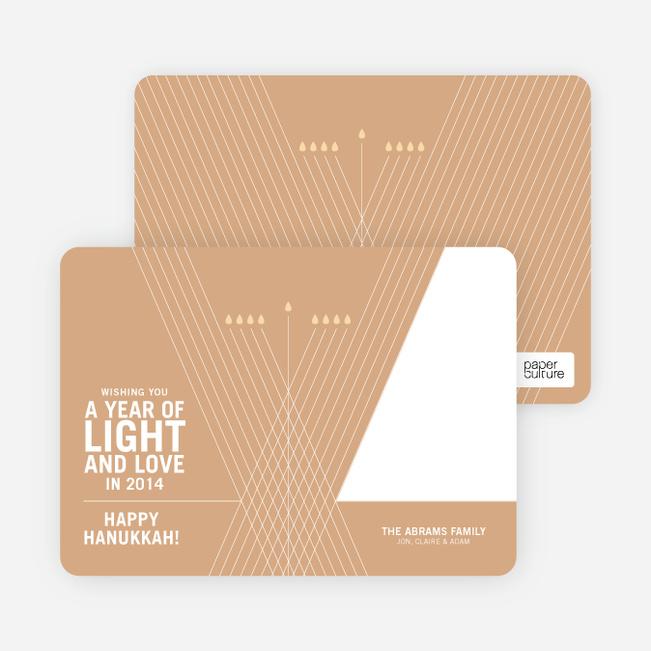 Light and Love Hanukkah Cards - Ginger