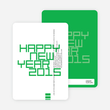 Modern and Bold New Year's Party Invitations - Kelly Green
