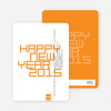 Modern and Bold New Year's Party Invitations - Orange