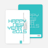 Modern and Bold New Year's Party Invitations - Azure
