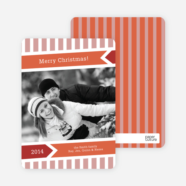Modern Merry Christmas Cards - Terra Cotta