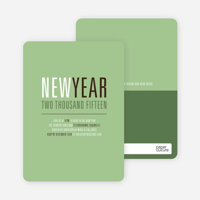 New Beginnings New Year's Invitations - Basil