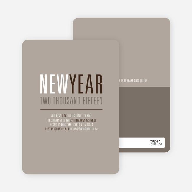 New Beginnings New Year's Invitations - Sand