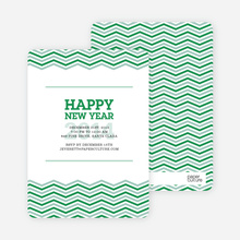 New Year Resolutions Party Invitations - Green