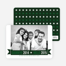 New Year Star Cards - Green