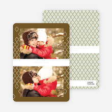 New Year's Pattern Photo Cards - Green