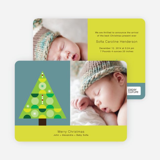 O Christmas Tree Holiday Cards - Apple Green