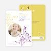 Peace Love Joy Holiday Photo Cards - Royal Purple