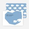 Polar Bear Happy Holidays Cards - Periwinkle