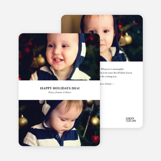 Inverted Photo Sandwich Holiday Cards - Black