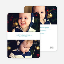 Pro Photo Holiday Cards: Inverted Sandwich - Teal
