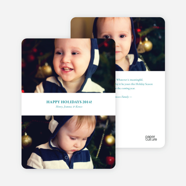 Inverted Photo Sandwich Holiday Cards - Teal