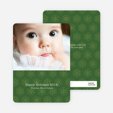 Classic Snowflake Cards - Olive Green
