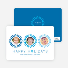 Triple O – 3 Photo Holiday Card - Royal Blue