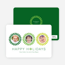 Triple O – 3 Photo Holiday Card - Honeydew