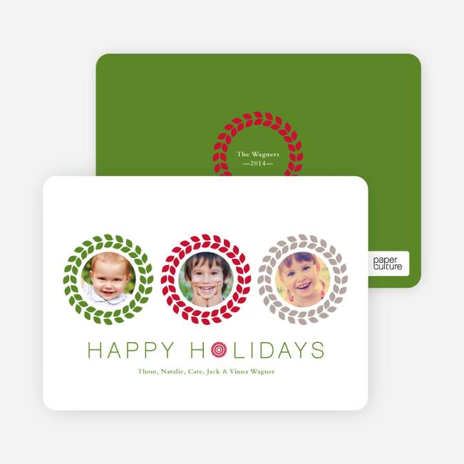 Triple O – 3 Photo Holiday Card - Crimson