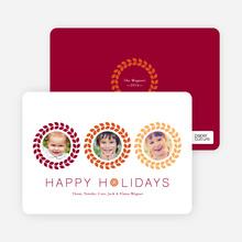 Triple O – 3 Photo Holiday Card - Saffron