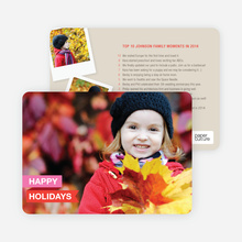 Top 10 Year in Review List Holiday Photo Cards - Pink