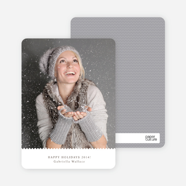 Zigzag Holiday Photo Cards - Charcoal