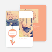 Bird of Joy Custom Holiday Cards - Orange