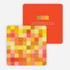 Blocks of Joy Corporate New Year's Cards - Orange