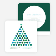 Celebrating All that is Merry & Bright Holiday Invitations - Green