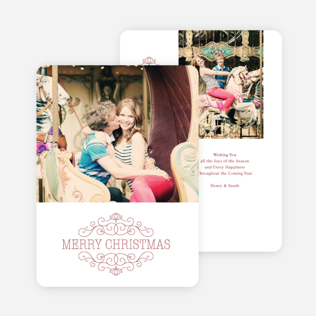 Chic Merry Chistmas Cards - Red