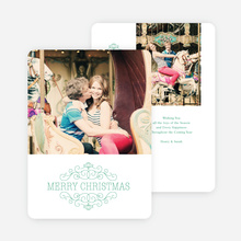 Chic Merry Chistmas Cards - Green